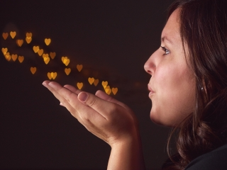 Kelsey Blowing Hearts